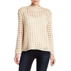 Joie Cream Off-White Open Knit Sweater